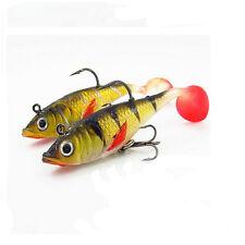 5pcs/set Perch Mandarin fish Fishing Lures soft bait luminous lead fishing lure