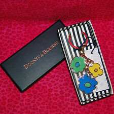 Dooney & Bourke Plaid Green Duck Key Ring Key Chain FOB