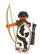 Playmobil Figure Egyptian Warrior Archer w/ Gold Bow Arrows Shield 4245