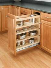 "Rev-A-Shelf 448-BC-5C Natural Wood 448 Series 5"" Base Organizer with Adjustable"