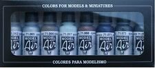 Aerógrafo De Pinturas-Vallejo Model Air Metálico Color Kit (8 x 17ml Botellas)