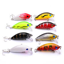 Mini Minnow Fishing Lure Crank Bait #10 Hook Bass Crankbait Tackle 5CM/3.6G DS1