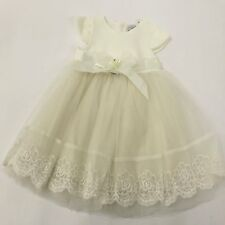 Gift Boxed Ivory Dress Shoes & Headband Christening Wedding New Baby  0-3 Months