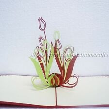 3D Tulip Flower Pop up Card Thank You Popup Card, High Quality Pop up Cards