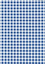 Fablon Sticky Back Vinyl - Self Adhesive - Gingham Blue - 45cm X 2m - FAB12818