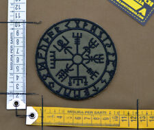 "Ricamata / Embroidered Patch ""Vegvisir Viking Comp"" OD with VELCRO® brand hook"
