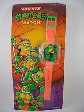 VTG TMNT KARATE TURTLES KNOCK OFF WATCH MEXICO MIKE LEO RAPH DON SEALED CLEAN!