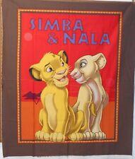 """1 Disney Lion King """"Simba and Nala"""" Fabric  Panel"""