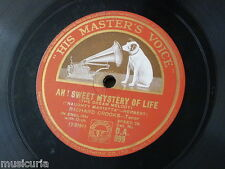 78rpm RICHARD CROOKS ah sweet mystery of life / song of songs DA 999