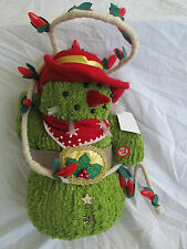 Christmas/Holiday Swingin Saguaro Cowboy Animated/Musical Roping Snowman Mexican