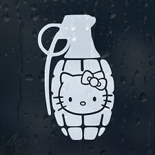 Hello Kitty Grenade Car Or Laptop Decal Vinyl Sticker Colour Choice