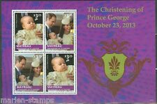 MAYREAU  2014  THE CHRISTENING OF PRINCE GEORGE SHEET II   MINT NH