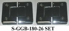 A SET OF 90, 135 AND 180 GLASS TO GLASS BEVELED SHOWER DOOR HINGES