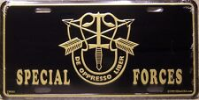 Aluminum Military License Plate 1st Special Forces emblem brass NEW
