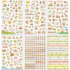 6 Sheets/Set Cute Cartoon Cat Paper Stickers for Scrapbooking Diary Decoration