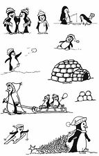 Unmounted rubber stamps Penguins