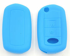 COQUE SILICONE BLEU CLE PILP RANGE ROVER HSE SPORT 2 BOUTONS
