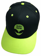 EARTH SUCKS FUNNY ALIEN SCI FI EMBROIDERED SNAPBACK CAP BLACK AND GREEN HAT