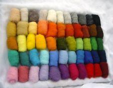 5,8 oz / 165 gr of Sheep Wool Fiber for Needle Felting, Spinning, 55 Color's set