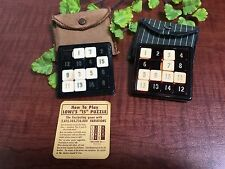 Lot of 2 Rudolf Steiner 15 - Puzzle Game & Lowe's 15 Puzzle pocket game W/ Cases