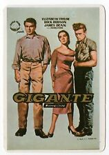 1986 Portugese Pocket Calendar featuring film poster Giant James Dean Liz Taylor