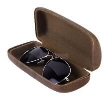 Leather Hard Case Clam Shell Eyeglass Reading Optical Glasses Storage Box