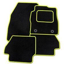Vauxhall Viva 2015+ a Medida Coche Tapetes Alfombra negra con ribete amarillo