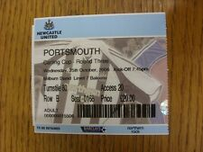 25/10/2006 Ticket: Newcastle United v Portsmouth [Football League Cup] . Thanks