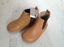 BRAND NEW NEXT Beige Brown Leather Girls Boys Boots Shoes Size 6 23