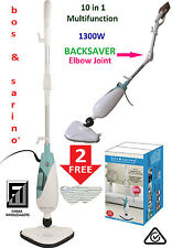 BOS & SARINO 10 in 1 Steam Mop Shower Floor Kitchen Clever Backsaver Feature