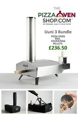 Uuni 3 Wood Fired Pizza Oven COVER BUNDLE oven,peel cover,pellets FREE DELIVERY