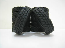 4Pcs Rubber Tires Tyres  For Tamiya RC 1:14 Tractor Truck Trailer Climbing Car
