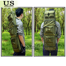 "38""/100CM Tactical Heavy Duty Gun Rifle Carrying Padded Case Bag Backpack Green"