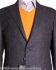 CORNELIANI CC Collection DK Grey Dogtooth Jacket Blazer BNWT Uk46