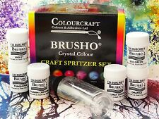 Brusho ® Craft Gaseosa conjunto 6 x ollas 15g + 60ml Botella De Gaseosa