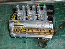 Webber carbs and manifold for 1/8 scale Revell Monogram E Type Jaguar car kit