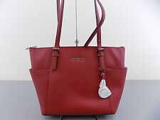 Michael Kors $248 *DEFECT Red Totes & Shoppers WOMEN 100% AUTH HANDBAG PURSE B08