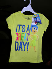 "Disney Pixar  ""INSIDE OUT"" EMOTION ""JOY""  GIRLS SHIRT SIZE 4  NWT"
