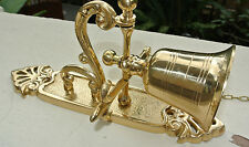 """used Front Door Bell pull chain solid POLISHED brass vintage old style 8.1/2 """""""