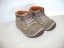STRIDE RITE GARETT TODDLER BOYS SHOES ANKLE BOOTS size 5.5 W TAN BEIGE LEATHER