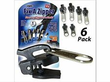 Universal Zip Repair / Replacement Kit. 3 Sizes, 6 Pieces No Tools.Zipper Fixer