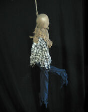 Animated Hanging Man Kicking Legs & Sound Scary Halloween Party Prop 3 Feet Long