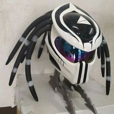 New Fancy White&Black Predator Motorcycle DOT/ECE Helmet Dread Size S M L XL XXL