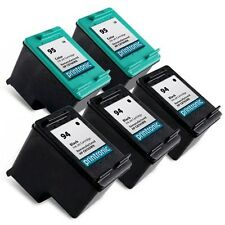 5PK HP 94 95 Ink Cartridge C8765WN C8766WN PSC 1600 1610 2350 2355 DeskJet 9800