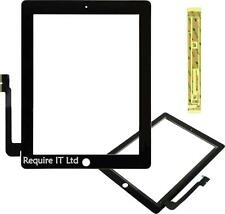 Pezzo di ricambio NERO Front Touch Screen Digitizer Vetro Plastica per Apple iPad3