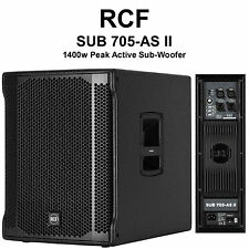 "RCF SUB 705-AS II Lightweight 1400w Peak Active 15"" SubWoofer $50 Instant Off DJ"