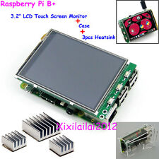"3,2"" TFT LCD Touch Screen Display Monitor + Kühlkörper Case For Raspberry Pi B+"