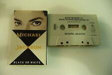 MICHAEL JACKSON K7 AUDIO TAPE CASSETTE BLACK OR WHITE/INSTRU. HOLLAND EPIC