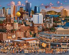 DOWDLE FOLK ART COLLECTORS JIGSAW PUZZLE TENNESSEE VOLUNTEERS 500 PCS