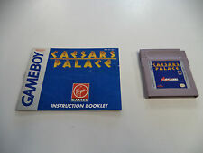 Caesars Palace (Nintendo Game Boy) with Instruction Booklet Manual!